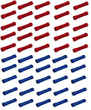25, 50 oder 100 Stück Stoßverbinder Kabelverbinder 0,5-1,5mm 1,5-2,5mm (25 x rot 0,5-1,5 + 25 x blau 1,5-2,5)
