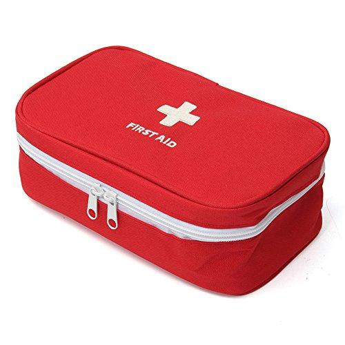 Erste Hilfe Set,Tragbar leer Erste-Hilfe-Koffer First Aid Kit Gewebe Medizintasche, Reiseapotheke Tasche, Betreuertasche Tasche für Reisen Home Workplace (Rot)