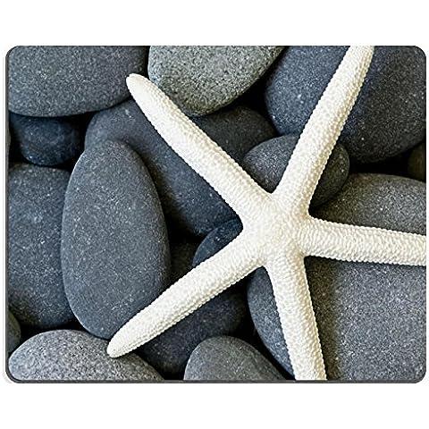 Liili Mouse Pad-Tappetino per Mouse in gomma naturale con ID 6002904 immagine: stella marina su sfondo: ciottoli
