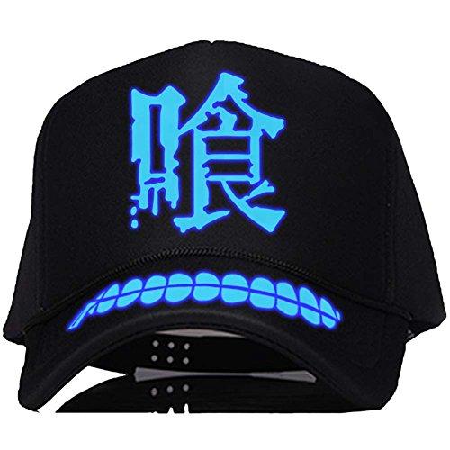 Ken Kaneki Leuchtend Hut Anime Baseball Cap Cosplay Kostüm Zubehör Curved Snapback Cap für Teenager Merchandise