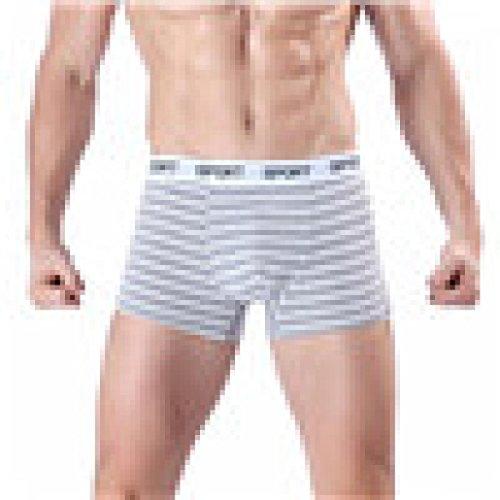 Ningsun slip boxer in cotone a righe da uomo neri stile classico a righe morbide mutande a righe mutandine pantaloncini intimo sexy morbido slip cotone sport intimi (grigio , xl)