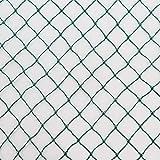 Vielseitiges Teichnetz 10m x 10m grün 17mm x 17mm Masche I Aquagart Laubschutznetz Teich Abdecknetz Vogelschutznetz Gartennetz Baumnetz Reiherschutz Beet-Netz Laubnetz Silonetz Schutznetz Teichabdeckung