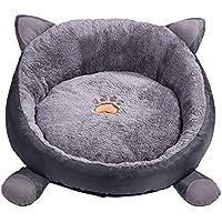 Furuisilintrade - Colchoneta para Mascotas (algodón Grueso y Suave, extraíble y Lavable), Gris, Large