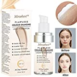 Liquid Foundation, Flawless Colour Changing Liquid Foundation, Long-Lasting Makeup Base Warm Skin Tone Nude Face Moisturizing Liquid Cover Concealer - 30ML