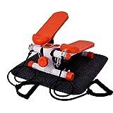 OUTAD Swing Stepper Mini-Stepper Side Stepper mit Kabellosem Trainingscomputer und Großen Trittflächen für Fitness und Abnehmen, die Maximale Belastbarkeit beträgt 100kg, Wenig Lärm (Orange)