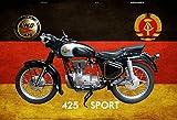 ComCard Simson AWO 425 Sport DDR Motorrad blechschild