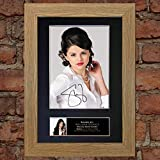 The Gift Room La Salle de Cadeau # 215Selena Gomez Photo encadrée signée autographe Pouvez numériser A4