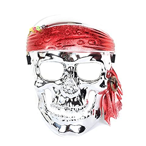 Silver Skull Skeleton Face Mask Halloween Masquerade Costume Game Carnival Party