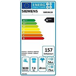 Siemens WM14N120 iQ300 Waschmaschine FL / A+++ / 157 kWh/Jahr / 1390 UpM / 7 kg / Weiß Outdoor / Imprägnier-Programm