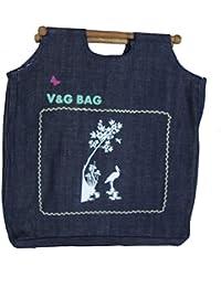 Multipurpose Reusable Denim Grocery Bag/Fruit Vegetable Bag/General Use Bag/Shopping Bag/Luggage Bag | DCCW00-2