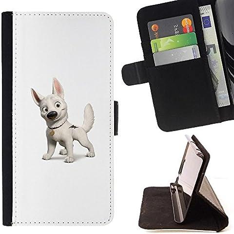 Momo Phone Case-Custodia a portafoglio in pelle, con scomparti per carte di credito, con cane, (Chicago Bolt)