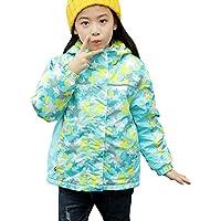 Zhhlaixing Niñas Niños Impermeable Deportivos Transpirable Impermeable Chaqueta de Nieve Excursionismo Fleece Jacket Transpirable