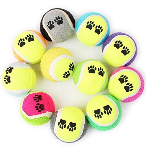 Wicemoon - Pelota tenis mascotas goma 6,2 cm, color