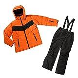 Traje de esquí para niño Esquí Chaqueta + pantalones de esquí en varios tamaños y colores naranja y negro