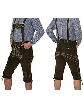 Herren Trachten Kniebund Lederhosen mit verstellbaren Trägern in verschiedenen Farben
