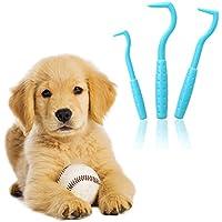 MyHappyPet Zeckenhaken Zeckenzange | Verschiedene Haken für Alle Zecken-Größen | Schonende Zeckenentfernung in Sekunden | Gratis E-Book:Coole Tricks für clevere Dogs | 3-Set