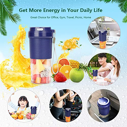 51KGfH98NpL. SS500  - POWERGIANT Portable Blender, Mini Personal Blender USB Rechargeable Cordless Small Juicer Cup Smoothie Blender Maker for…
