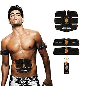 Elettrostimolazione Muscolari-Training-Donna/Uomo Addome/Braccia/Vita Massaggi-attrezzo Wireless-Batteria-Carica--03(3 Apparato)-arancione