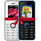 #4: I KALL 4.57 cm (1.8 Inch) Mobile Phone Combo - K66 (White & Blue)
