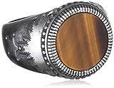 caï men Herren-Ring ROCKABILLY 925 Silber Tigerauge mehrfarbig Gr. 66 (21.0) - C4149R/90/D5/66