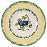 Villeroy & Boch French Garden Valence Suppenteller, 23 cm, Premium Porzellan, Weiß/Bunt
