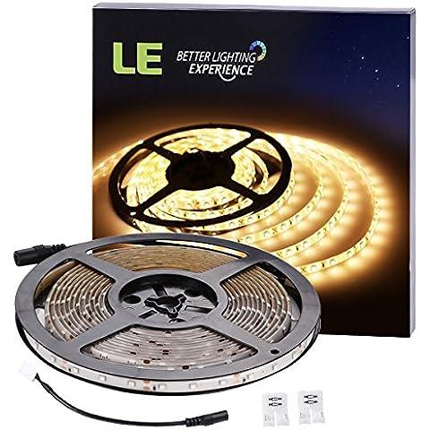 LE Tira de luces 300 LED 5m Resistente al agua Blanco cálido 300lm/m