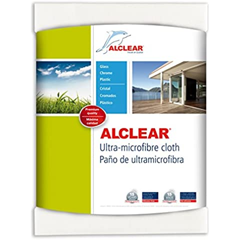 ALCLEAR 950002 Paño de Ultramicrofibra para Ventanas, 60 x 45 cm, Color Blanco