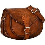 """Gusti Leder nature """"Romy"""" Genuine Leather Handbag Cross Body Shoulder Bag Everyday Satchel City Party Weekend Festival Bag Vintage Brown M23"""