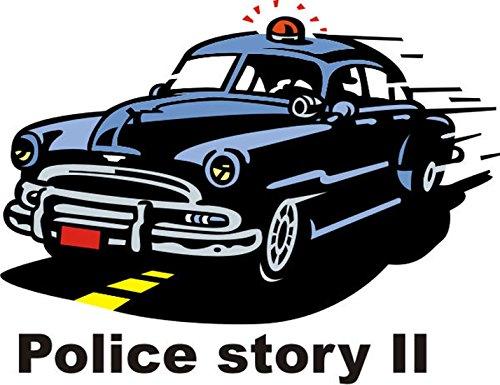 T-Shirt E1228 Schönes T-Shirt mit farbigem Brustaufdruck - Logo / Grafik / Design - altes Polizeiauto 50er Jahre USA Weiß