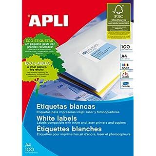 Apli 002140 - Pack 100 weiβe Etiketten für Drucker 70X35