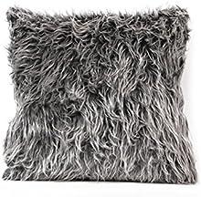 Fenical almohada couvertures Jet almohada caso cojín cojín de peluche dulce manta de sofá home decoración (gris profundo)
