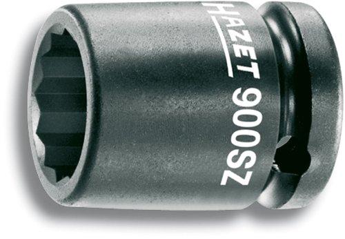 Hazet 900SZ-22 Douille à chocs/carré creux 12,5 mm/profil traction à 12 pans extérieurs Taille 22 longueur 40 mm