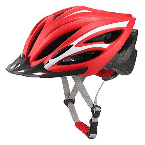 Casco da ciclismo e bicicletta mountain helm one road mountain - taglia unica (55-61cm) con cappello, uomo e donna light equipment red