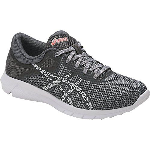 ASICS Women's Nitrofuze 2 Carbon/White/Flash Coral Running Shoes - 6 UK/India (39.5 EU)(8 US)