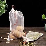 wiederverwendbar erzeugen Taschen, umweltfreundlich waschbar Mesh Einkaufstaschen mit Kordelzug für Obst und Gemüse, Set von 10, Wie abgebildet, 30 x 20 cm
