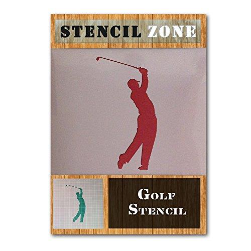 Golfer Swinging Golf Sport Mylar Airbrush Malerei Wandkunsthandwerk Schablone (A5 Größe Stencil - XSmall) -