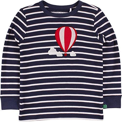 Fred's World by Green Cotton Jungen T-Shirt Balloon Stripe T, Blau (Navy/Cream 019800002), 134