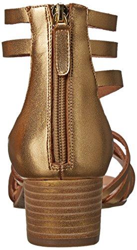 Nina Victor Cuir Sandales Gladiateur gold