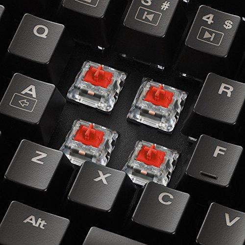 Sharkoon Skiller Mech SGK1 Mechanische Gaming Tastatur für PC (mit weißer Beleuchtung) red - 4