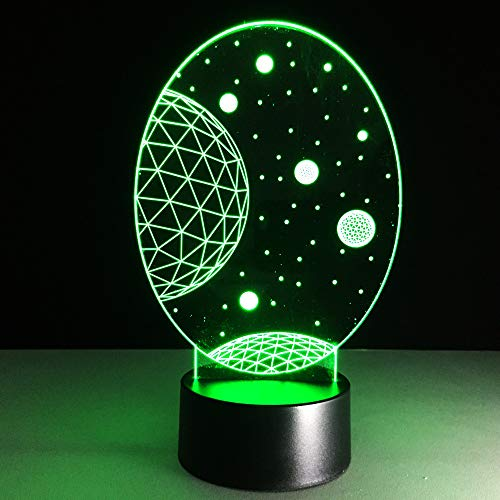 Lamps, Lighting & Ceiling Fans Home & Garden Conscientious 3d Night Light Led Beside Table Mood Lamp With Remote Control Christmas...