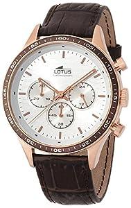 Lotus 15966/1 - Reloj de pulsera hombre, Cuero, color Marrón