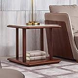 QiXian Italienisches Licht Luxus Marmor Wohnzimmer Wohnzimmer Platz Telefontisch Massivholz Sofa Beistelltisch Nussbaum Möbel, Marmor, 60 * 60 * 55 cm