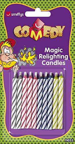 Smiffys Magische Wiederzündbare Kerzen, Time 4 Fun, 10er Pack, ()