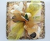 100% natural camomila y miel fragancia sal del mar muerto & Epsom sal Deluxe Sea Grass cesta Set de regalo