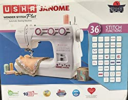 Usha Janome Wonder Stitch Plus Electric Sewing Machine With Hard Cover