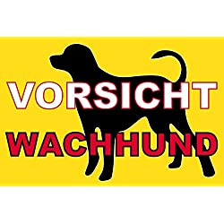 Hundeschilder Hunde Schild Schilder -723t- Wachhund, mit 4 Tesa-Powerstrips