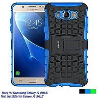 Samsung Galaxy J7 2016 Hülle , Galaxy J7 2016 Case , Fetrim Silikon TPU plastik Schlank Schutzhülle Handyhülle Stoßfest Schutz Etui handy Doppelstruktur fall Harte Rüstung cover schale für Samsung Galaxy J7 2016 mit Ständer - Blau