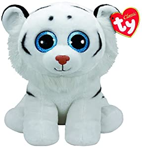 Ty- Beanie Babies Tundra, Tigre, Color Blanco, 40 cm (United Labels Ibérica 90227TY)
