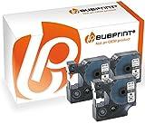 Bubprint 3 Schriftbänder kompatibel für Dymo 45013 S0720530 für Labelmanager 100 120 150 160 200 Labelpoint 100 150 200 250 300 schwarz auf weiß 12mm x 7m