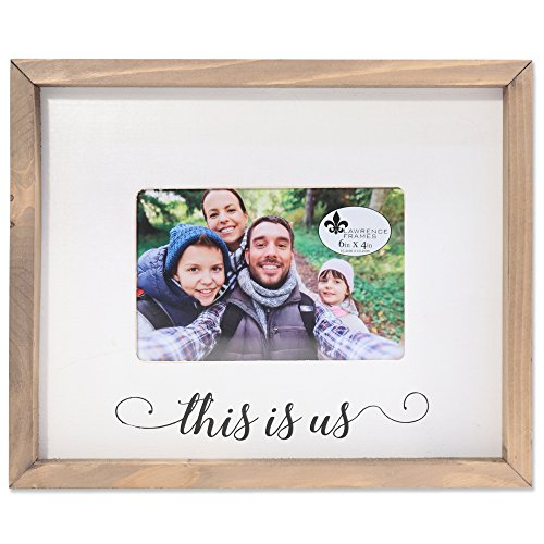 Lawrence Frames Farmhouse Wood Frame-This is us Bilderrahmen, Holz, Braun, 4x6